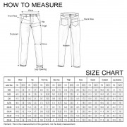 Size chart for skinny long pant